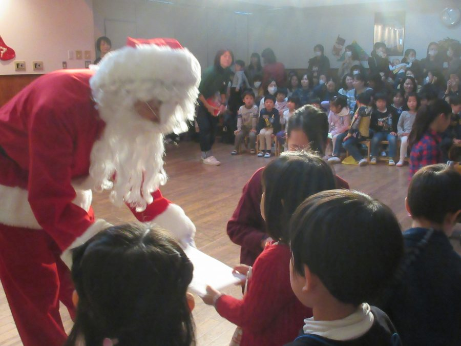 サンタクロースがやってきた