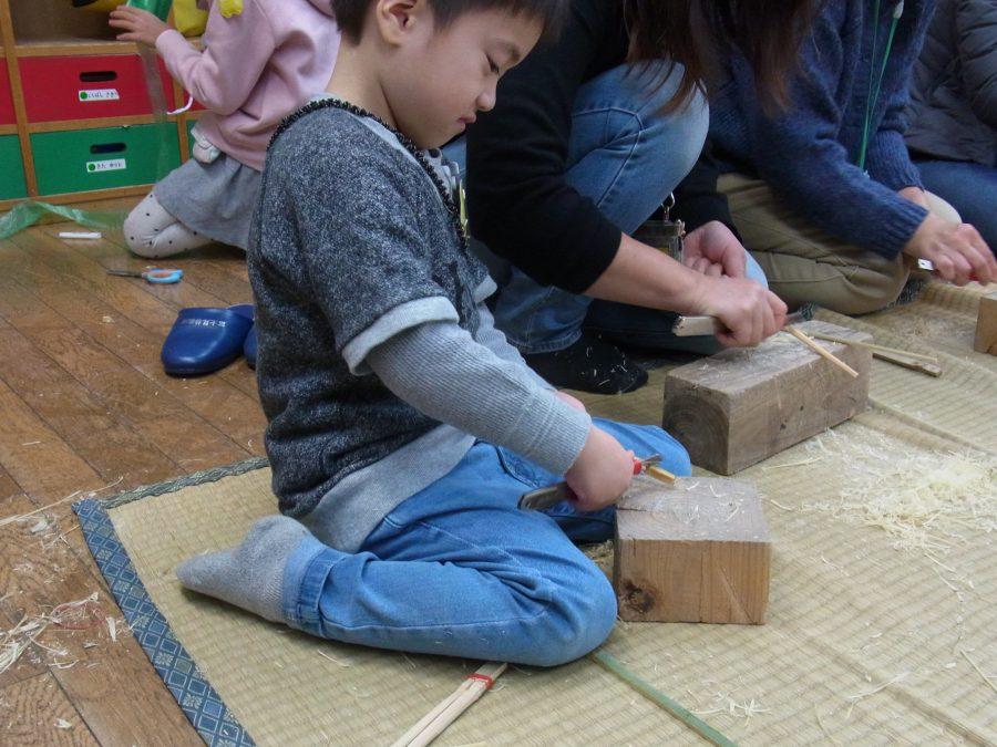 竹の箸作り