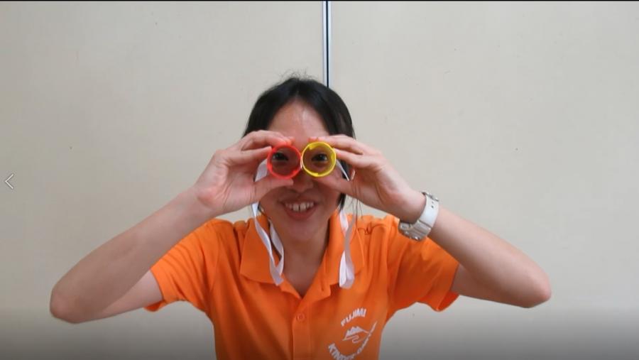 保護中: 保育通信 動画 年中 「双眼鏡を作って遊ぼう!」